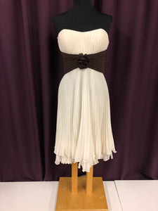 Bari Jay Size 12 White Formal Dress