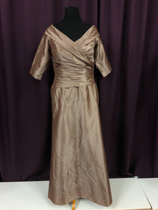 Bari Jay Size 16 Brown Formal Dress