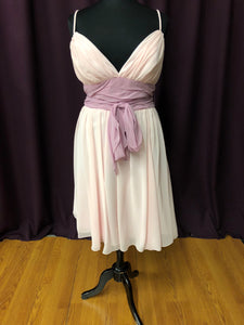 Bari Jay Size 18 Pink Bow Formal Dress