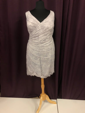 Bari Jay Size 24 Gray Lace Short NEW Formal Dress