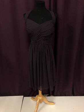 Bill Levkoff Size 18 Purple Halter Rushing Formal Dress