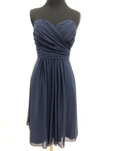Bill Levkoff Size 6 Navy Blue Formal Dress