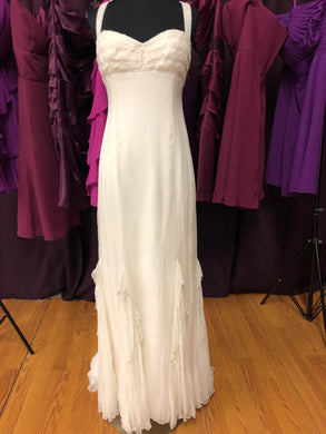 Birnbaum & Bullock Size 10 Ivory Bead Wedding Dress