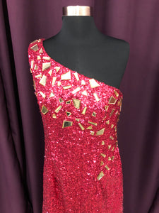 Blush Prom  Size 8 Pink Long Sequin Rhinestone Formal Dress