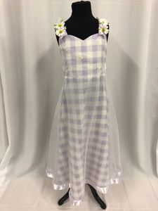 Bonnie Jean Size 14 Purple Flower Sash Flower Girl Dress