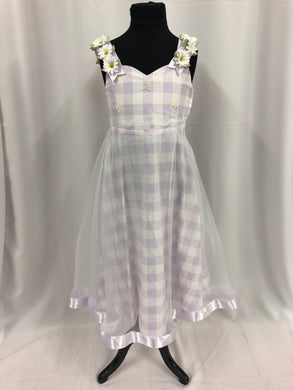 Bonnie Jean Size 7 Purple Flower Sash Flower Girl Dress
