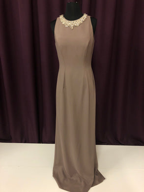Cameron Blake Size 6 Brown Rhinestone Formal Dress