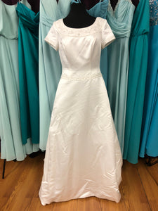 Casablanca Size 14 Ivory Sleeve Bead Wedding Dress