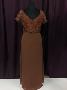 Catrina Size 20 Brown Formal Dress
