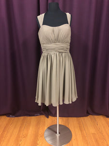 Christina Wu Size 10 Brown Short  Straps  Formal Dress