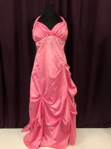 City Studio Size 24 Pink Rhinestone Flower Halter Formal Dress
