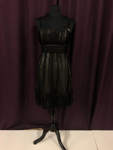 Collection Size 12 Black Flower Rushing Formal Dress