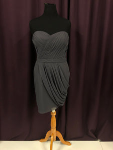 Colour Size 18 Gray Strapless Short Formal Dress