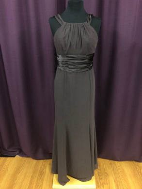 David's Bridal Size 10 Brown Belt  Halter Formal Dress