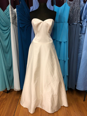 David's Bridal Size 12 Ivory Wedding Dress