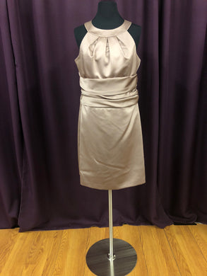 David's Bridal Size 12 Tan Brown Formal Dress
