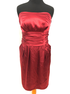 David's Bridal Size 18 Red Short  Formal Dress