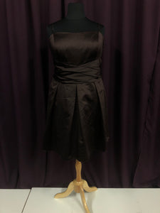 David's Bridal Size 22 Brown Strapless Formal Dress
