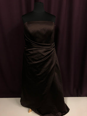 David's Bridal Size 24 Brown Rushing  Broach Formal Dress