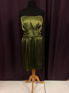 David's Bridal Size 24 Green Formal Dress