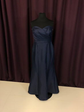 David's Bridal Size 4 Navy Blue Strapless Formal Dress