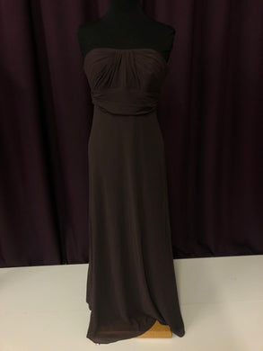 David's Bridal Size 8 Brown Rushing  Formal Dress