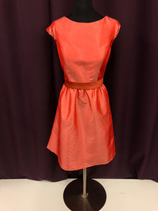 Davinci Size 12 Coral Belt  Cap Sleeve Formal Dress
