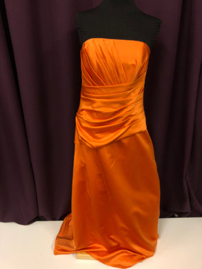 Davinci Size 12 Orange Rushing  Formal Dress