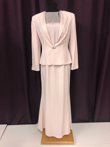 Daymore Size 6 Pink Two Piece Rhinestone Formal Dress
