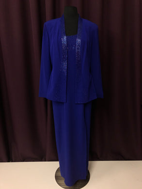 Daymore Size 8 Blue Bead Jacket Formal Dress