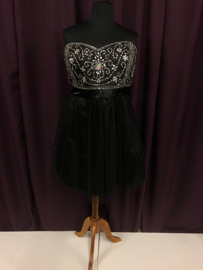 Deb Size 24 Black Formal Dress