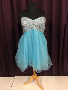 Deb Size 24 Blue Formal Dress
