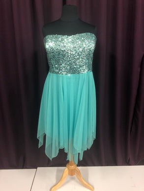 Deb Size 24 Green Formal Dress