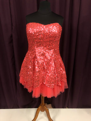 Deb Size 24 Pink Sequin Formal Dress
