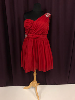 Deb Size 24 Red Formal Dress