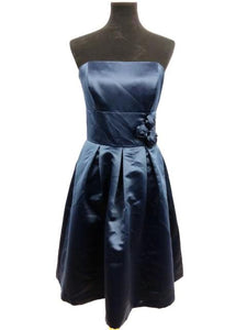 Dessy Collection Size 6 Navy Blue Short  Strapless Formal Dress