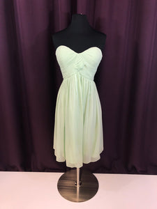 Donna Morgan Size 4 Green Rushing  Short Strapless Formal Dress