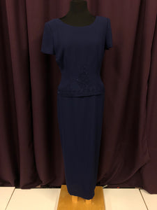 Donna Morgan Size 8 Blue Bead Formal Dress