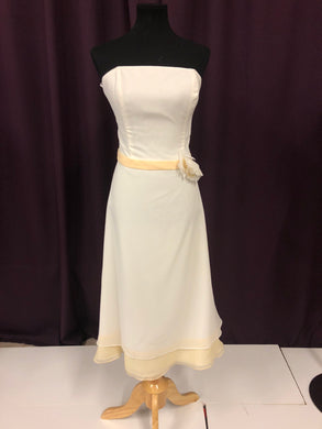 Eden  Size 12 White Formal Dress