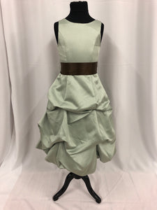 Forever Yours Size 6 Green Pick-ups Sash Flower Girl Dress