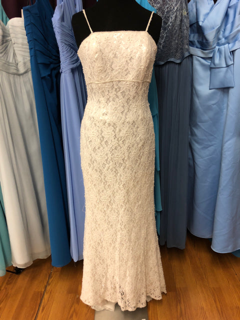 Galina Size 12 Ivory Lace Pearl Sequin Wedding Dress