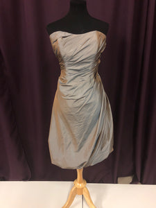 Impressions Bridal Size 12 Gray Short  Strapless Formal Dress