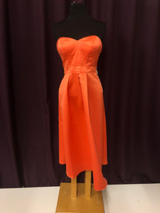 4a923ca1b0e JJs House Size 14 Orange Strapless Tea Length Formal Dress – Bride ...