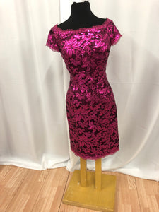 JS Collection Size 12 Pink Sequin Formal Dress