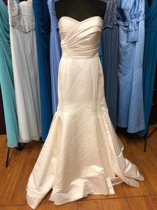 Jasmine Size 12 Ivory Ruching Wedding Dress
