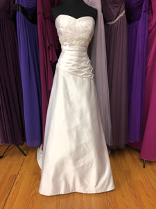 Jasmine Size 14 White Bead Sequin Wedding Dress