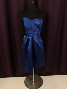 Jasmine Size 4 Navy Blue Pockets Rushing Strapless Formal Dress