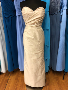 Jim Hjelm Size 12 Ivory Rushing  Wedding Dress