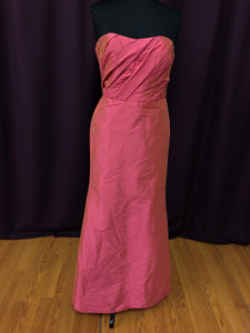 Jim Hjelm Size 12 Pink Belt  Strapless Formal Dress