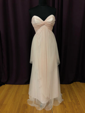 Jim Hjelm Size 12 Pink Long Strapless Formal Dress